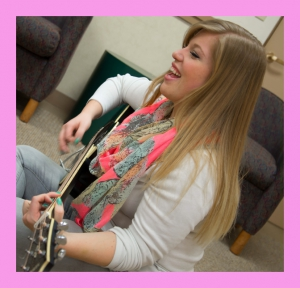 Alyssa and guitar